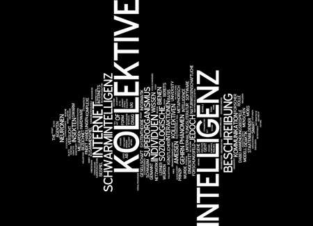 sociological: Word cloud of collective intelligence in German language