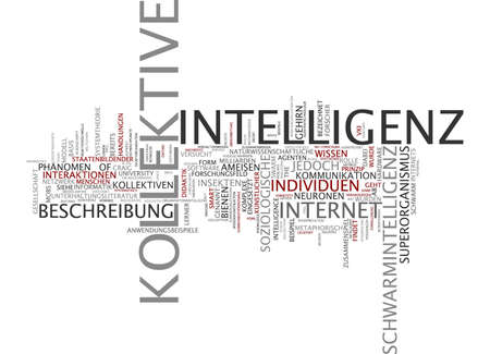 collective: Word cloud of collective intelligence in German language