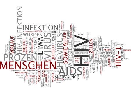 immunodeficiency: Word cloud of HIV in German language