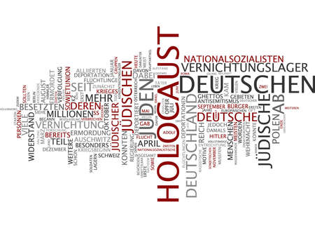 Word cloud of holocaust in German language photo