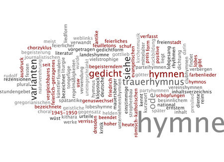 journalistic: Word cloud of anthem in German language