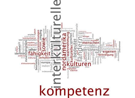 Word cloud of intercultural in German language Stock Photo