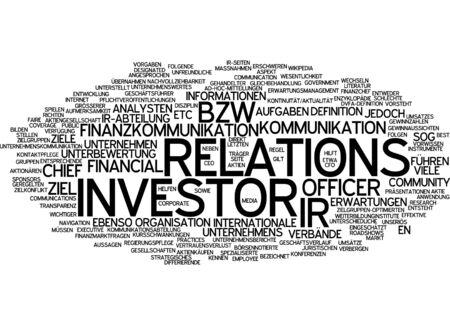 ドイツ語で株主・投資家の単語雲