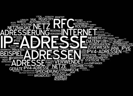 ip address: Word cloud of IP address in German language