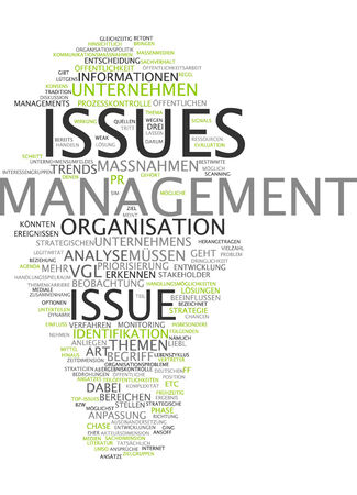Word cloud of management issue in German language