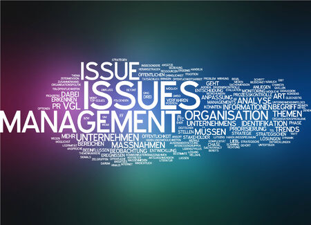 recognize: Word cloud of management issue in German language