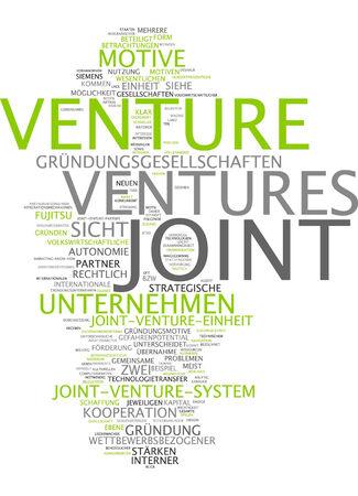 joint venture: Word cloud of joint venture in German language