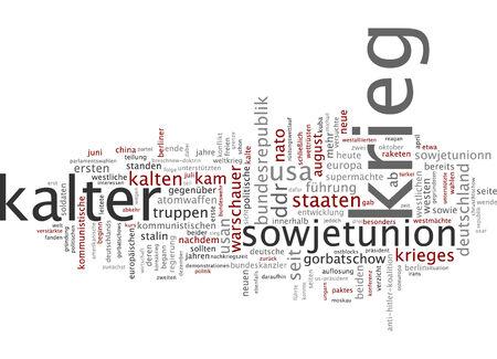 cold war: Word cloud of cold war in German language