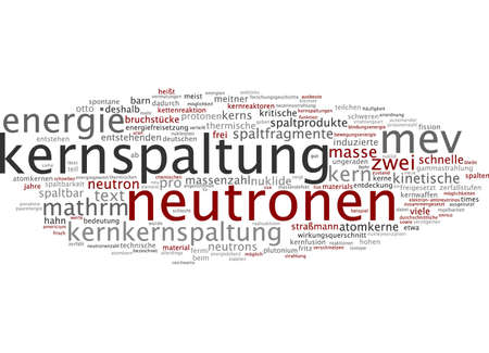 induced: Word cloud of nuclear fission in German language