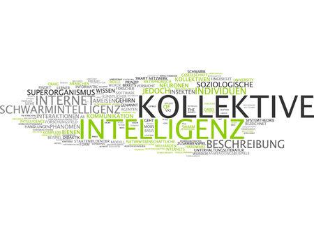 interactions: Word cloud van collectieve intelligentie in de Duitse taal