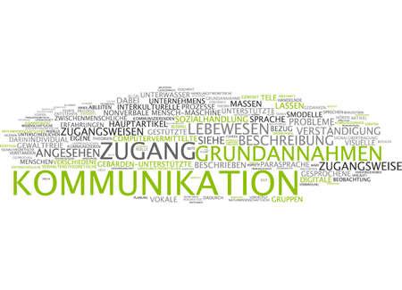 comunicacion no verbal: Nube de palabras de la comunicaci�n en lengua alemana