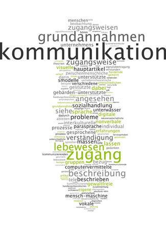 Word cloud of communication in German language