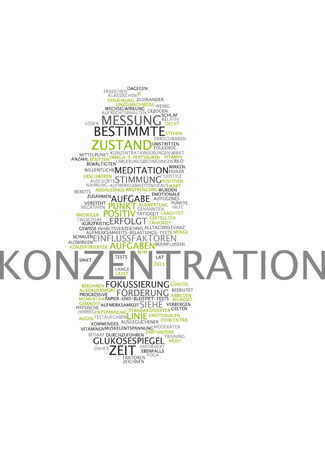 influential: Word cloud of concentration in German language Stock Photo