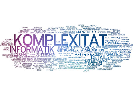complexity: Word cloud - complexity