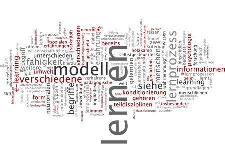 criterion: Word cloud of learning in German language Stock Photo