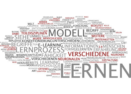 neuronal: Word cloud of learning in German language Stock Photo