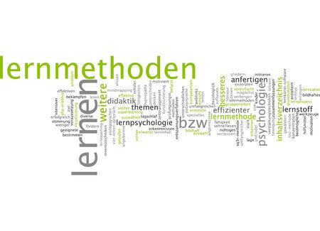 adequate: Word cloud of learning methods in German language