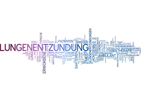 pneumonia: Word cloud of pneumonia in German language