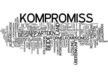 compromise: Word cloud of compromise in German language