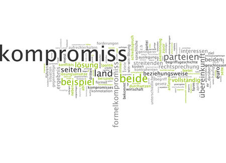 connotation: Word cloud of compromise in German language