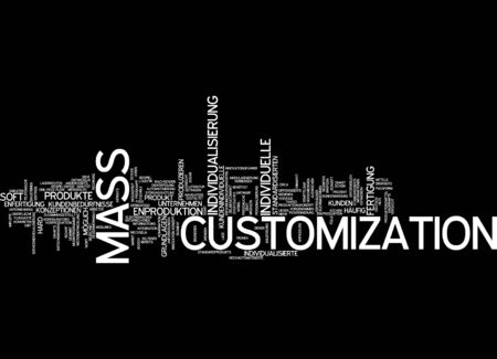 bases: Word cloud of mass customization in German language