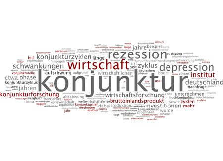 fluctuations: Word cloud of economy in German language