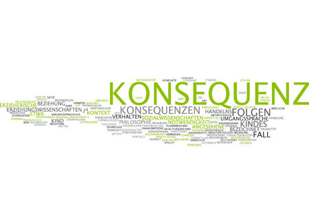 consequence: Word cloud of consequence in German language