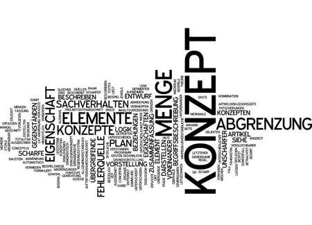 demarcation: Word cloud of concept in German language