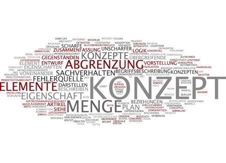 distinguish: Word cloud of concept in German language