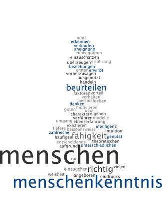 crucial: Word cloud of knowledgable people in German language