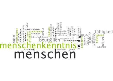 exploited: Word cloud of knowledgable people in German language
