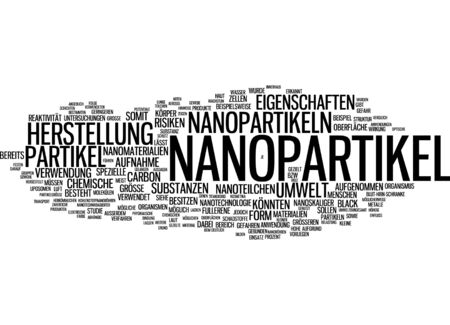 reactivity: Word cloud of nanoparticle in German language