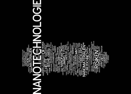 nanoparticle: Word cloud of nanotechnologie in German language