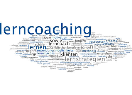 Word cloud of learning coaching in German language photo