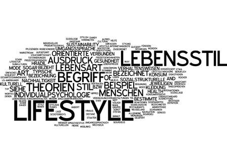 certain: Word cloud of lifestyle in German language
