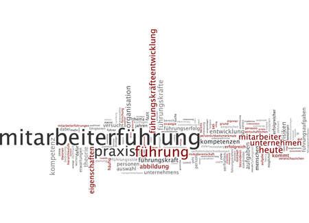 cope: Word cloud of leadership in German language