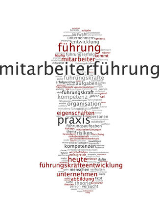 expectations: Word cloud of leadership in German language