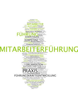 Word cloud of leadership in German language