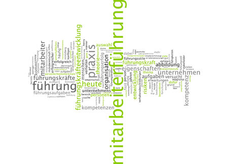 Word cloud of leadership in German language