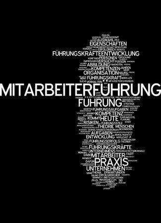 Word cloud of leadership in German language Stock Photo - 33999431