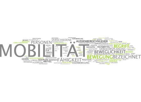 Word cloud van mobiliteit slachtoffer in de Duitse taal Stockfoto - 33999378