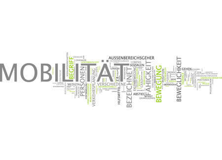 Word cloud of mobility victim in German language