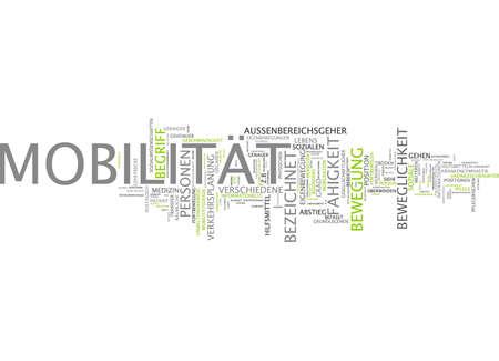 Word cloud van mobiliteit slachtoffer in de Duitse taal Stockfoto - 33999381