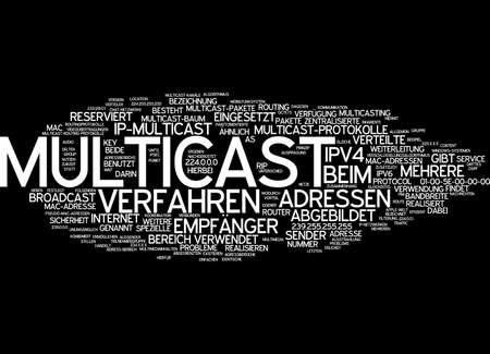 protocols: Word cloud of multicast in German language