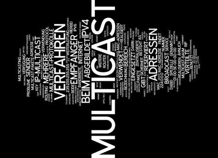multicast: Word cloud of multicast in German language