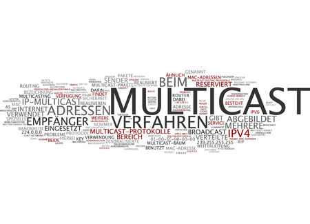 protocols: Parola nube di multicast in lingua tedesca