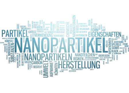 nanoparticle: Word cloud of nanoparticle in German language