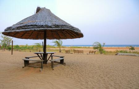beach hut: Wooden hut on the beach