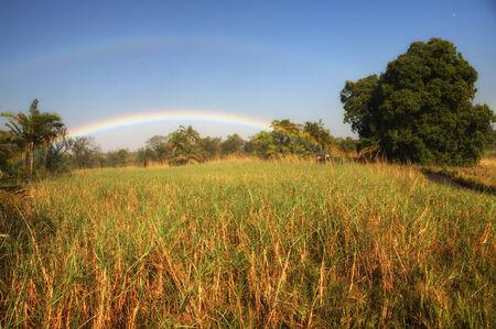 zimbabwe: Arco iris en Zimbabwe, África
