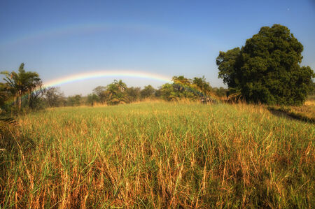 zimbabwe: Rainbow in Zimbabwe, Africa Stock Photo